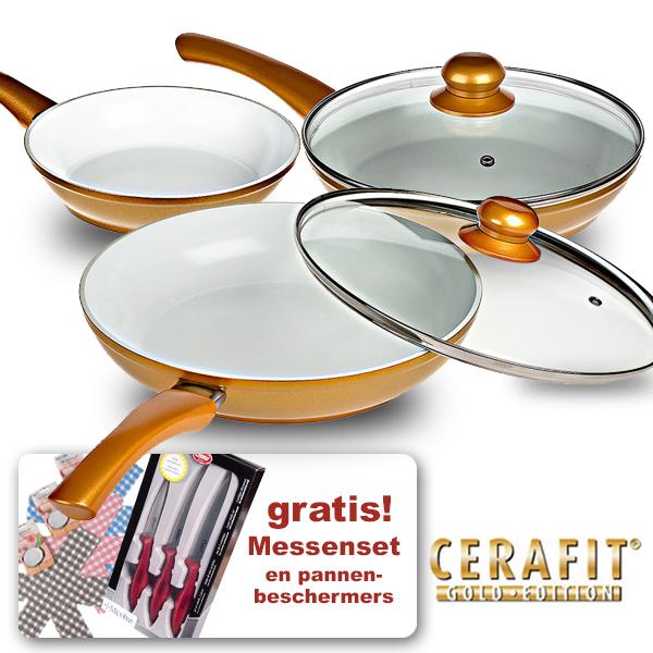Cerafit Gold + gratis messenset + gratis pannenbeschermers