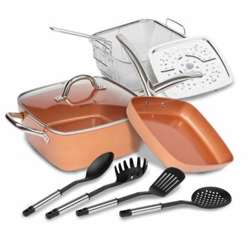 Copper Chef Koperen pannenset