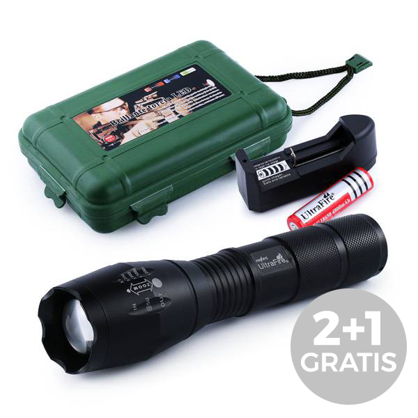Tactical LED Zaklamp Deluxe