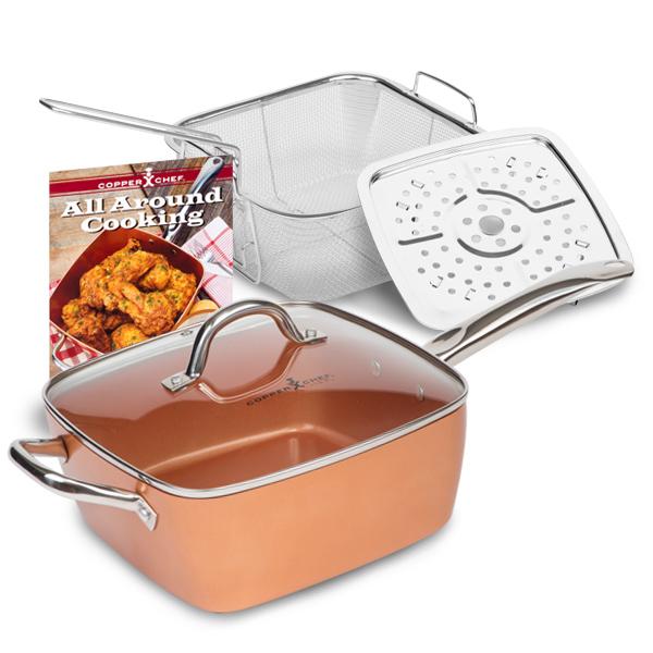 Copper Chef Copper Chef vierkante koperen pan Copper Chef
